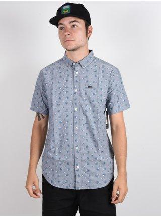 RVCA THATLL DO PRINT DISTANT BLUE košile pro muže krátký rukáv - modrá