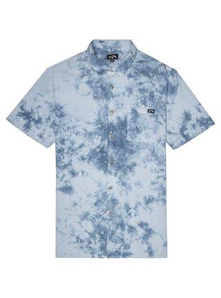 Billabong SUNDAYS TIE DYE MIST košile pro muže krátký rukáv - modrá