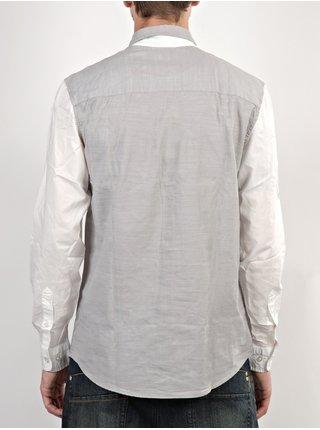 WESC Elmont silver sconce pánské košile s dlouhým rukávem - šedá