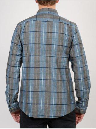 Ezekiel GEYSER DARK BLU pánské košile s dlouhým rukávem - modrá
