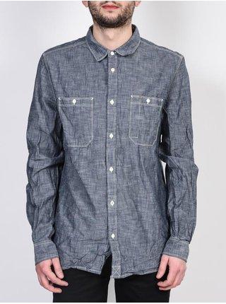 Element SUMTER INDIGO BLUE pánské košile s dlouhým rukávem - šedá