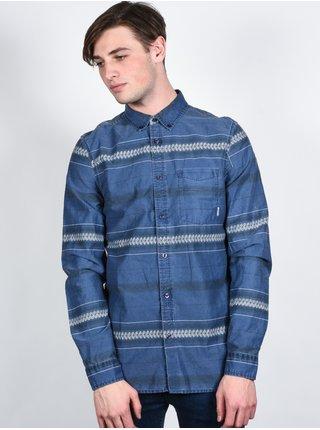 Element MOORE midnight blue pánské košile s dlouhým rukávem - modrá