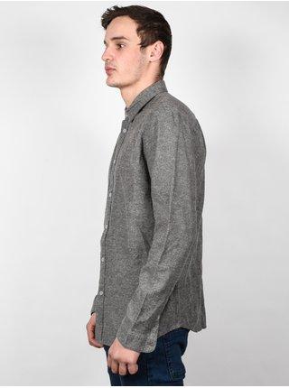 RVCA VINE GREYSKULL pánské košile s dlouhým rukávem - šedá