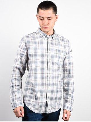RVCA SID MIRAGE pánské košile s dlouhým rukávem - šedá