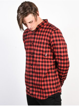 Element GOODWIN FLINT BLACK pánské košile s dlouhým rukávem - červená