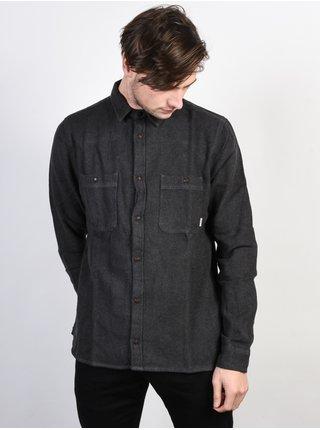Element MARKUS FLINT BLACK pánské košile s dlouhým rukávem - černá