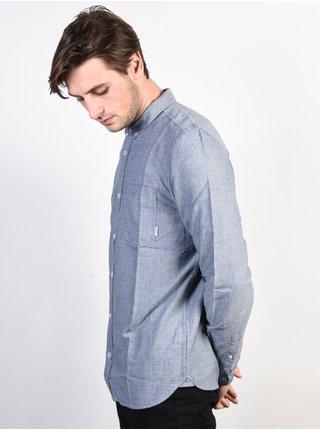 Element OXFORD NAVY pánské košile s dlouhým rukávem - modrá