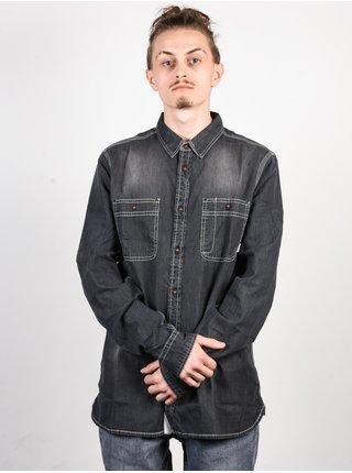 Element PACE LIGHT GREY DENIM pánské košile s dlouhým rukávem - šedá