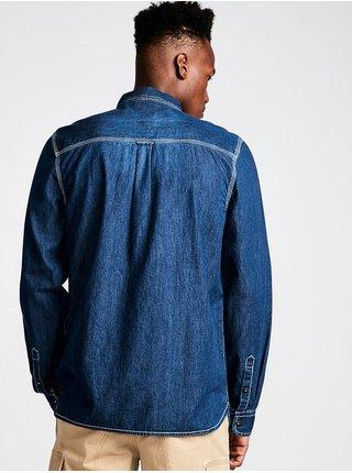 Element PACE LIGHT Blue Denim pánské košile s dlouhým rukávem - modrá