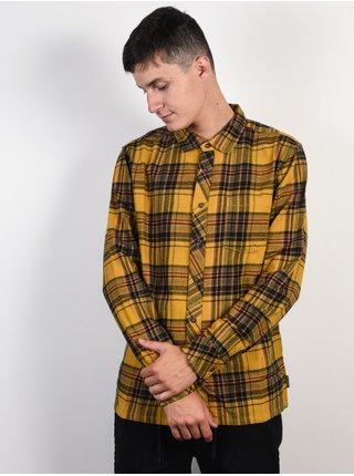 Billabong COASTLINE GOLD pánské košile s dlouhým rukávem - hnědá