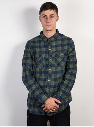 Billabong ALL DAY FLANNEL forest pánské košile s dlouhým rukávem - modrá