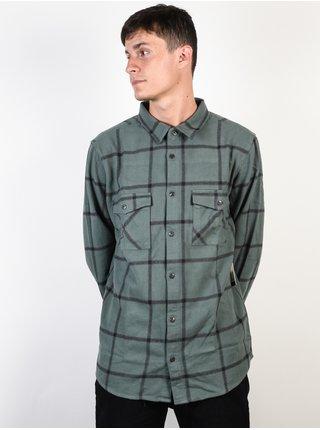 Rip Curl EL ROLLO MILITARY GREEN pánské košile s dlouhým rukávem - zelená
