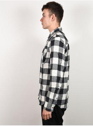 Element TACOMA BONE WHITE pánské košile s dlouhým rukávem - černá