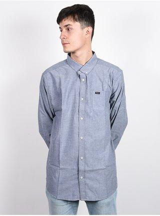 RVCA THATLL DO STRETCH DISTANT BLUE pánské košile s dlouhým rukávem - modrá