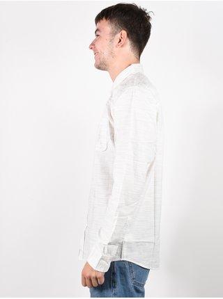 Rip Curl SANITY BONE pánské košile s dlouhým rukávem - bílá