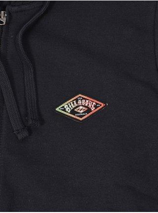 Billabong DIAMOND black pánská mikiny na zip - černá