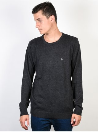 Volcom Uperstand  black svetr pánský - šedá