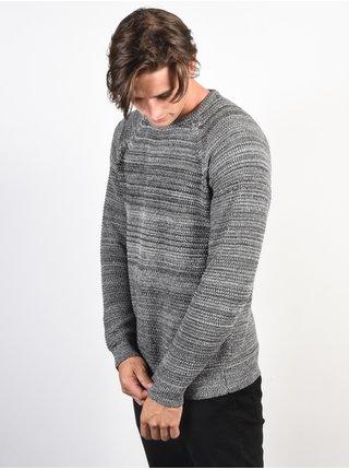 Billabong BROKE grey heather svetr pánský - šedá