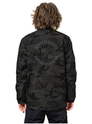 Horsefeathers RUGGED  black camo zimní pánská bunda - černá