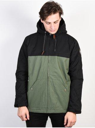 Quiksilver WANNA BLACK/THYME zimní pánská bunda - černá