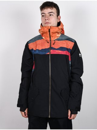 Quiksilver TR AMBITION APRICOT ORANGE TR SUNRISES zimní pánská bunda - černá