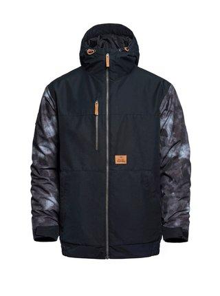 Horsefeathers REVEL gray camo zimní pánská bunda - černá