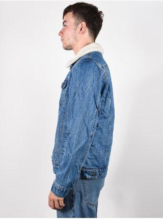 Rip Curl ANGUS DENIM mid blue pánská bunda - modrá