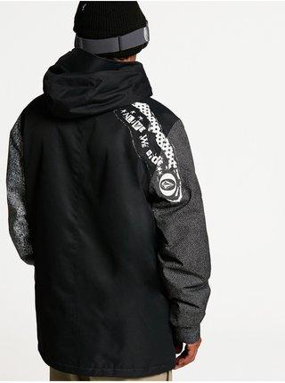 Volcom 17Forty Ins black check zimní pánská bunda - černá