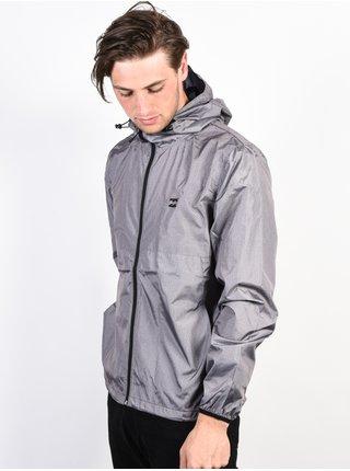 Billabong TRANSPORT WINDBREAKE grey heather podzimní bunda pro muže - šedá