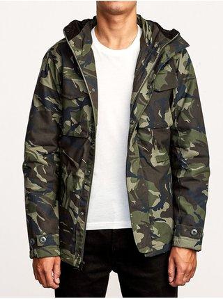 RVCA FIELD COAT WOODLAND CAMO podzimní bunda pro muže - černá