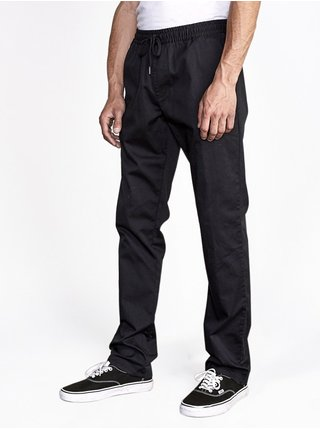 RVCA WEEKEND ELASTIC RVCA BLACK plátěné kalhoty pánské - černá