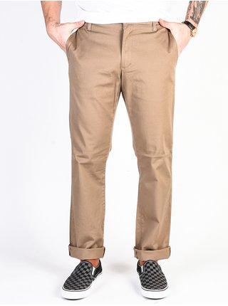 RVCA THE WEEKEND STRETCH DARK KHAKI plátěné kalhoty pánské - béžová