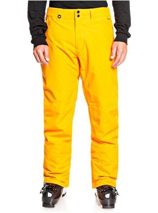 Quiksilver ESTATE flame orange pánské zimní kalhoty - žlutá