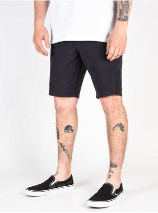 Quiksilver Krandy black plátěné kraťasy pánské - černá