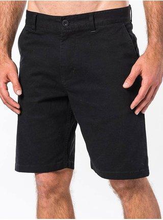 Rip Curl TRAVELLERS black plátěné kraťasy pánské - černá