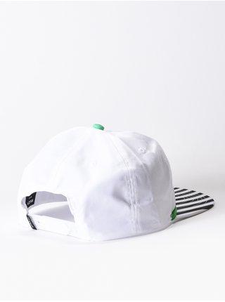RVCA LUKE P white kšiltovka s rovným kšiltem - bílá