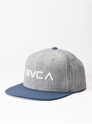 RVCA TWILL GREY BLUE kšiltovka s rovným kšiltem - šedá