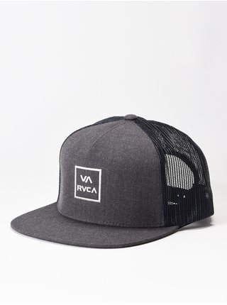 RVCA VA ALL THE WAY CHARCOAL GREY kšiltovka s rovným kšiltem - šedá