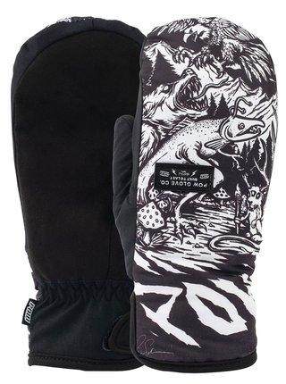 POW Zero Mitt Schmies zimní palcové rukavice - černá