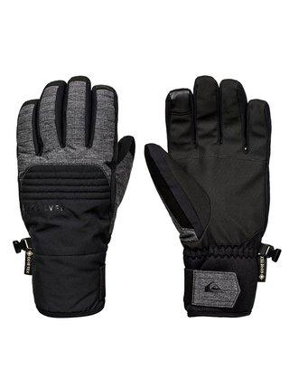 Quiksilver HILL TRUE BLACK pánské zimní prstové rukavice - černá