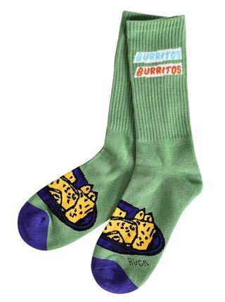 RVCA HOT FUDGE CREW green pánské ponožky - zelená