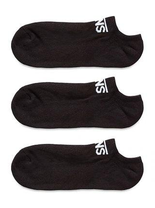 Vans CLASSIC KICK WHITE-BLACK kotníkové ponožky pánské - černá