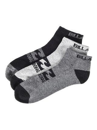 Billabong ANKLE 3 PK kotníkové ponožky pánské - černá