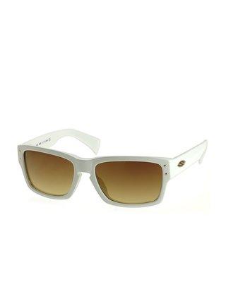 Smith CHEMIST/S  WHITE BROWNAMB sluneční brýle pilotky - bílá