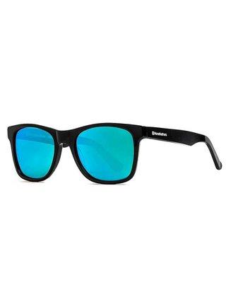 Horsefeathers FOSTER zebra/mirror green sluneční brýle pilotky - černá