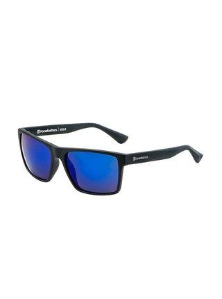 Horsefeathers MERLIN matt black/mirror blue sluneční brýle pilotky - černá