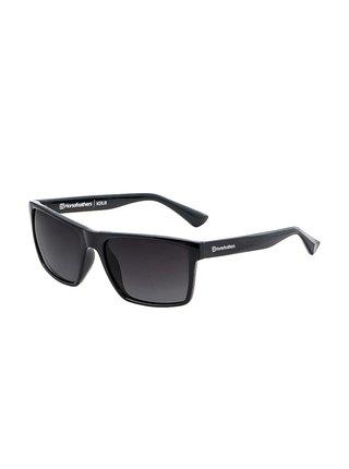 Horsefeathers MERLIN gloss black/gray fade out sluneční brýle pilotky - černá