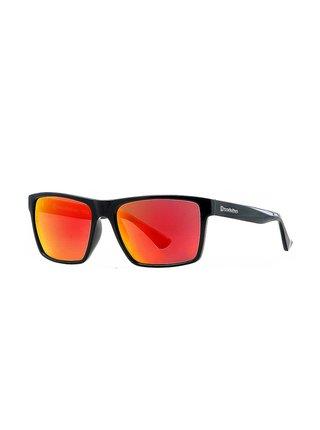Horsefeathers MERLIN gloss black/mirror red sluneční brýle pilotky - černá