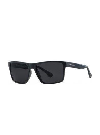 Horsefeathers MERLIN matt black/gray sluneční brýle pilotky - černá