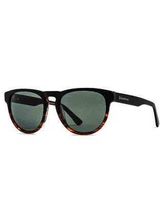 Horsefeathers ZIGGY matt havana/gray green sluneční brýle pilotky - černá